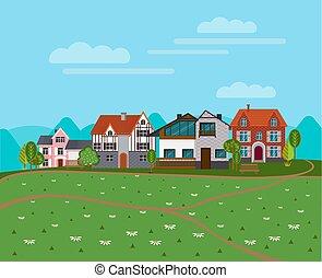Summer Rural Landscape Background