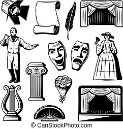 Vintage Theatre Elements Collection