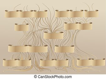 genealogy. abstract family tree illustration