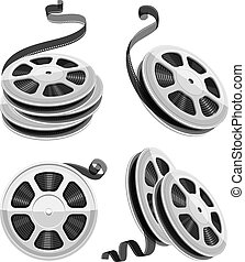 Movie video movie film disks with tape isolated set