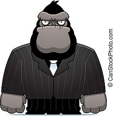 Gorilla Suit - A cartoon gorilla dressed in a suit and tie.