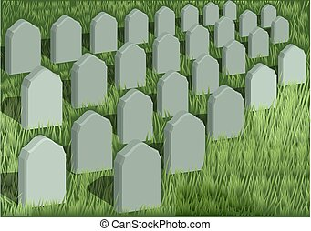 grave yard and green grass