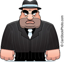 Cartoon Mobster - A big cartoon mobster in a suit.