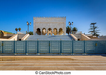 Mausoleum Mohamed V. in Rabat, Morocco - Mausoleum of very...