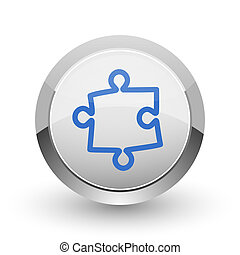 Puzzle chrome border web and smartphone apps design round...
