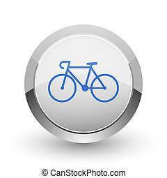 Bicycle chrome border web and smartphone apps design round...