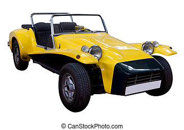 Dune Buggy - yellow dune buggy isolated on white