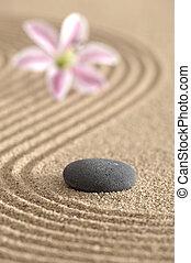 zen garden in sand