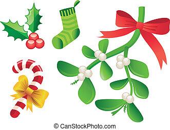 navidad, ornamento, icono