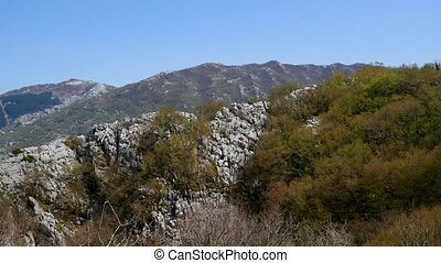 Mountain on day in Montenegro.
