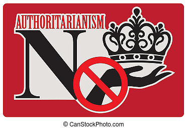 Refusal to authoritarianism, label No authoritarianism....