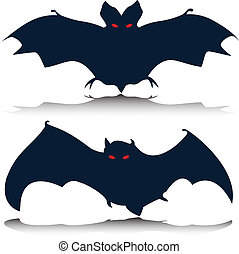 bat vector silhouettes
