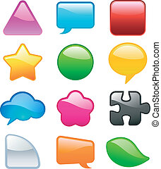 colorful speech bubbles elements