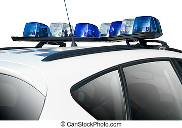 Police Car top isolated on White