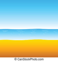 beach and sea illustration
