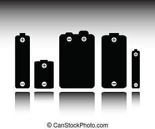battery vector silhouettes