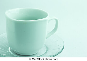 coffee cup over white background