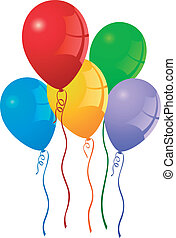 party balloons - vector colorful party balloons
