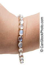 moonstone bracelet with a white background