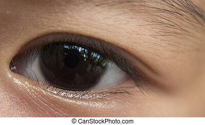 Eyeball little children