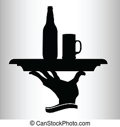 beer for the man vector silhouettes
