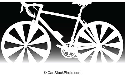 bicycle white vector silhouettes