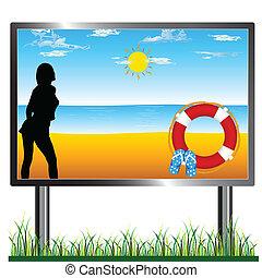 billboard beach illustration