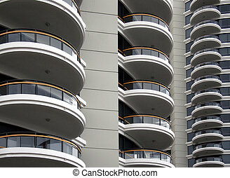 Balconies - Unique apartment building with balconies