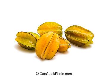 carambola fruit isolated on white background