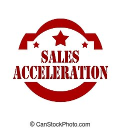 Sales Acceleration-stamp - Red stamp with text Sales...