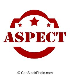 Aspect-red stamp - Red stamp with text Aspect,vector...