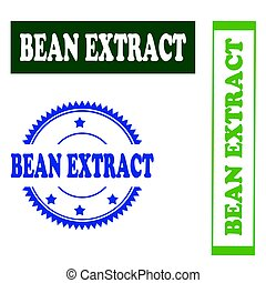 Bean Extract-stamp - Set of stamps with text Bean...