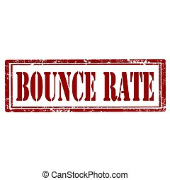 Bounce Rate-stamp - Grunge rubber stamp with text Bounce...