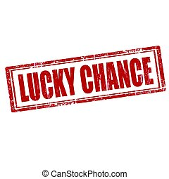 Lucky Chance - Grunge rubber stamp with text Lucky...