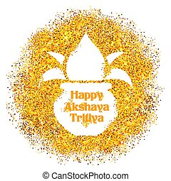 Akshay Tritiya celebration - illustration of background for...