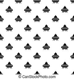 Alien spaceship pattern vector