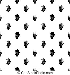 Parent and child hands together pattern vector