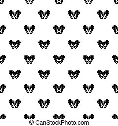 Pelvis pattern vector - Pelvis pattern seamless in simple...