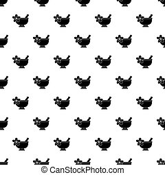 Mortar and pestle pharmacy pattern vector - Mortar and...