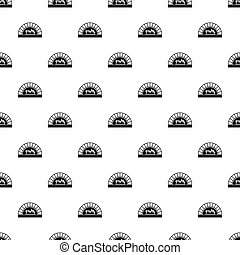 Pizza oven with fire pattern vector