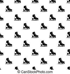 Ice skate pattern vector - Ice skate pattern seamless in...