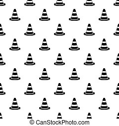 Traffic cone pattern vector - Traffic cone pattern seamless...