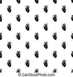 Heart pattern vector - Heart pattern seamless in simple...