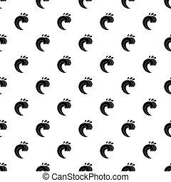 Large curling wave pattern vector