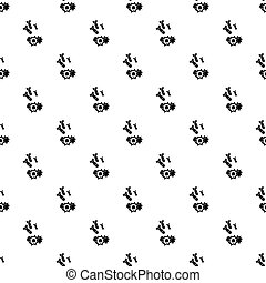 Bomb pattern vector - Bomb pattern seamless in simple style...