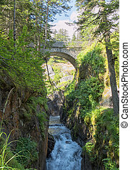 Under the bridge of Spain at Cauterets, French Pyrenees