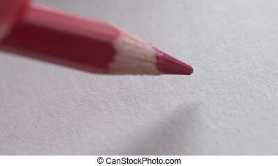 macro writing a question mark - macro writing red pencil in...