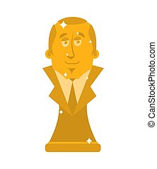 President of Golden Bust. Statuette is a big boss. Modern...