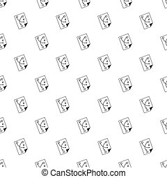 Soccer strategy pattern vector