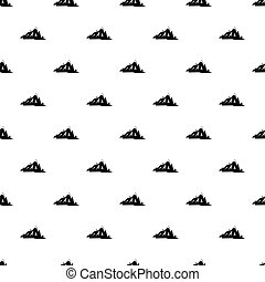 Canadian mountains pattern vector